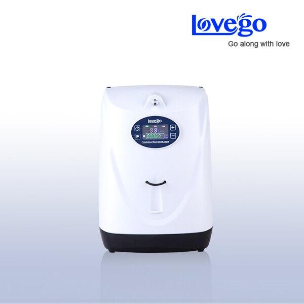Dwie godziny baterii za pomocą LoveGo LG102 przenośny koncentrator tlenu generator/w porównaniu z simplygo/5LPM/95%