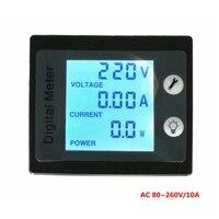 AC 220V 260V 10A Digital Voltmeter Ammeter Current Voltage Power Energy Meter Blue LCD Backlight STN