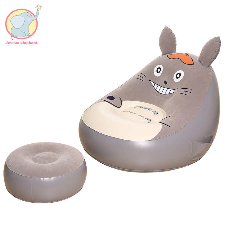 Arrivée gonflable bande dessinée hamac chaise paresseux sac chaise Totoro canapé haricot bureau salon extérieur paresseux sac flocage