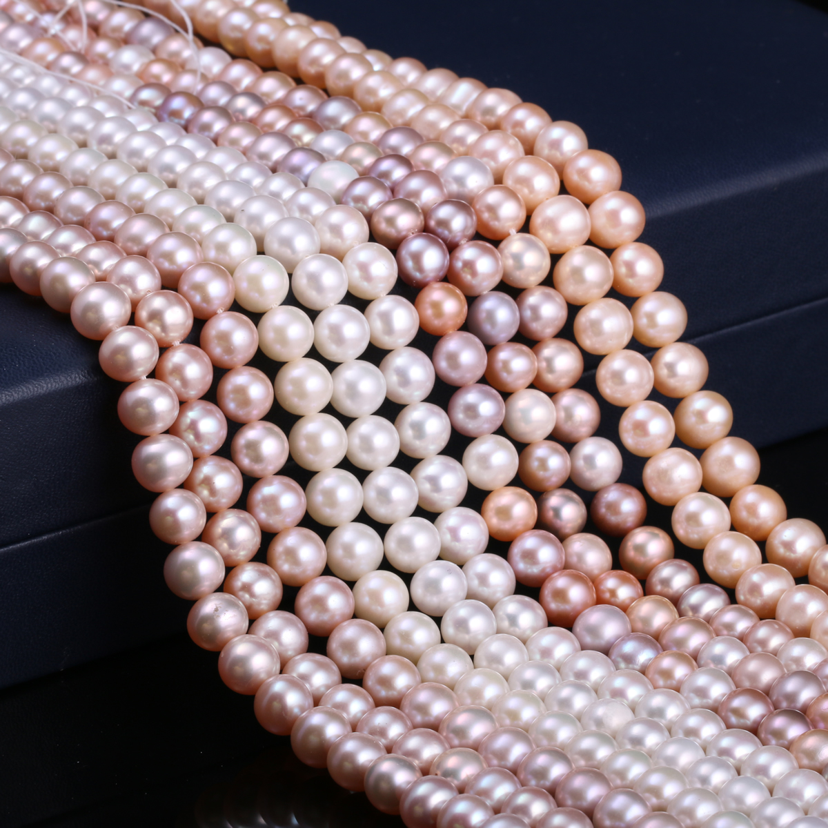 Natural Freshwater Cultured Pearls Beads Round 100% Natural Pearls for Jewelry Making Necklace Bracelet 15 Inches Size 7-8mm edi genuine natural freshwater pearls 5mm 100