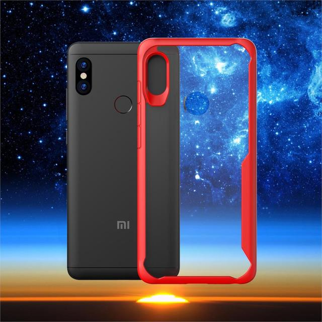 b418642ce2d For Xiaomi Redmi Note 5 Pro Case Soft Silicone+Transparent PC Armor Protective  Back cover Case for xiaomi redmi note 5pro shell