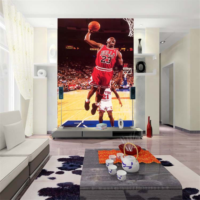 Custom wallpaper mural wallpaper cartoon animation super basketball background wall paper NBA air Jordan buckle 3D wallpaper