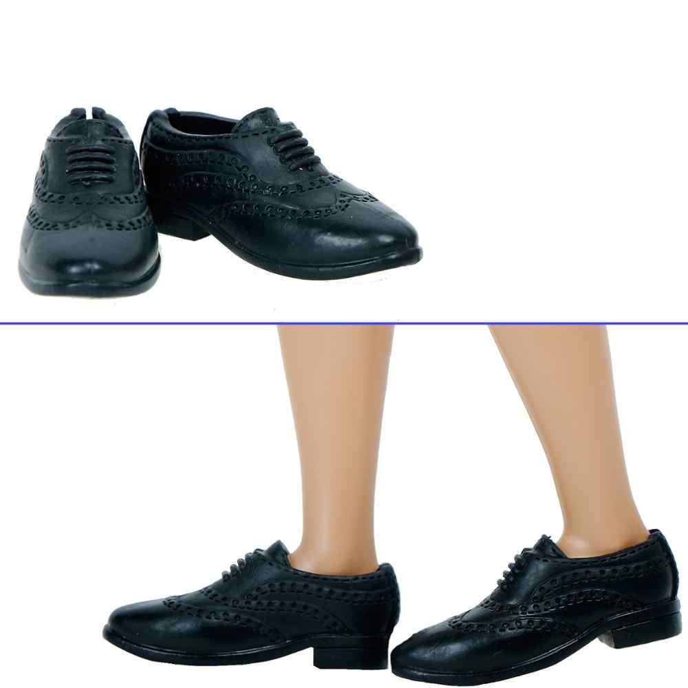 1 para moda na co dzień codzienne buty dla lalek Boot Slipper Sneakers kopiuj buty skórzane wizytowe dla Barbie lalka ken męskie dodatki