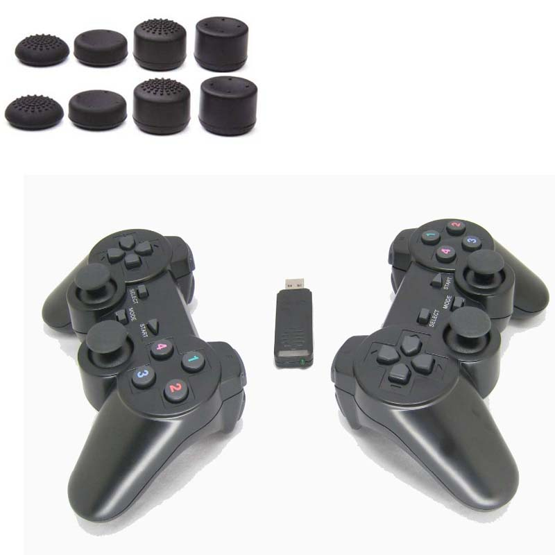 2PCS/LOT 2.4G USB Wireless Dual Games Vibration Gamepad Controller Joystick 3D Analog Stick For PC Laptop Notebook W7/W8 etc. usb 2 0 analog tv usb stick w remote controller