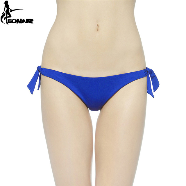 EONAR Swimwear Women 2017 Cheeky Bikini  Bottom Adjustable Side Ties  Brazilian Thong Swimsuit  Classic Cut Bottoms Biquini Swim