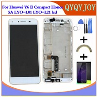 Q Y QYJOY AAA Quality LCD Display For Huawei Y6 II Compact Honor 5A LYO L01