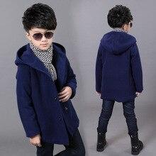 Шерстяное пальто мальчиков детские зимние модная одежда для мальчика корейских детей кардиган 12 год мальчик одежда детские пальто западной Kid