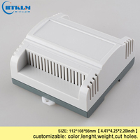 Caixa de plástico do trilho do ruído para o projeto eletrônico 112*108*56mm abs caixa de junção caixas de instrumentos eletrônicos caixa de controle diy