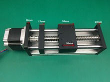 Best Price GGP Ball Screw 1204 1605 1610 Slide Rail 300mm 250mm Linear Guide Moving Table Slipway+Nema23 motor 57 Stepper Motor
