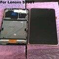 S898 + lcd para lenovo s898 s898t mais display lcd touch screen digitador assembléia com quadro peças de reposição originais