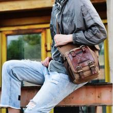 New retro canvas mens bag European and American fashion Mens shoulder messenger