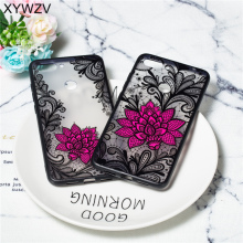 Flower Case Xiaomi Mi 8 Lite Luxury Retro Lace Pattern Matte Phone Cover PC Shell