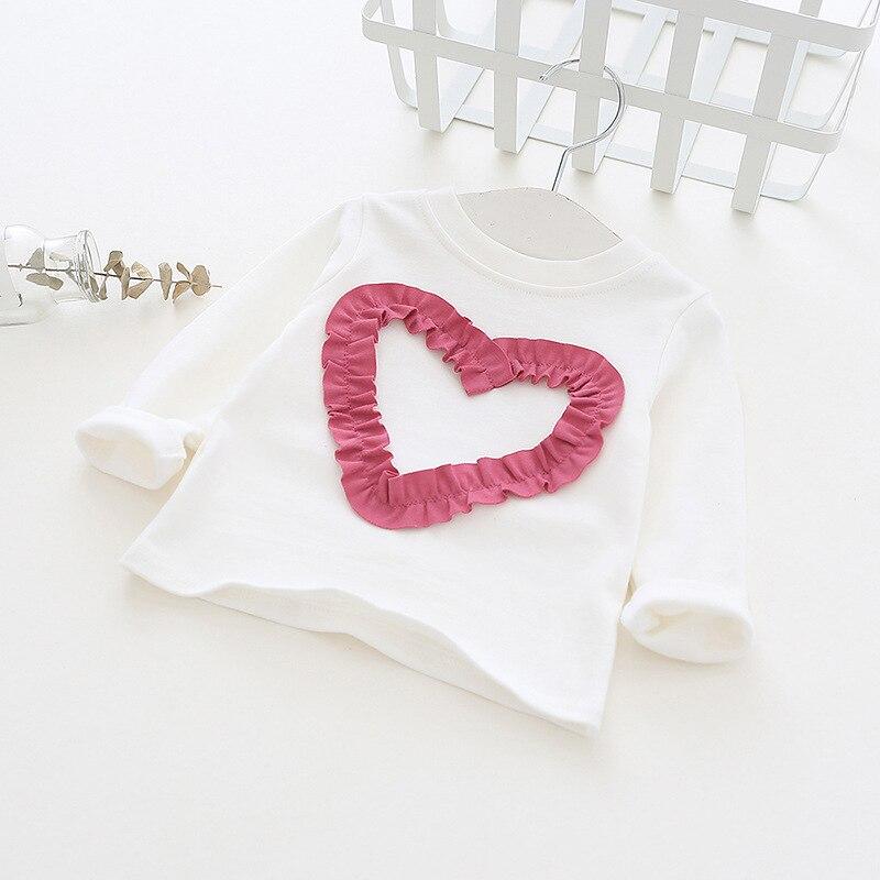 Girls Tops Basic-Shirts Long-Sleeve Toddler Autumn Princess Cotton Lover Cute RT081