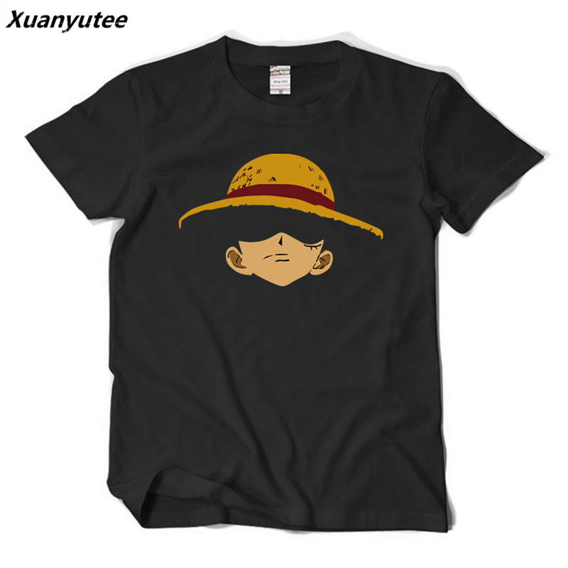 Xuanyutee Japan Anime One Piece T shirt Homme Print Luffy Straw Hat Brook Fans Short Sleeve O-neck Cotton Casual 2XL T-shirt Men