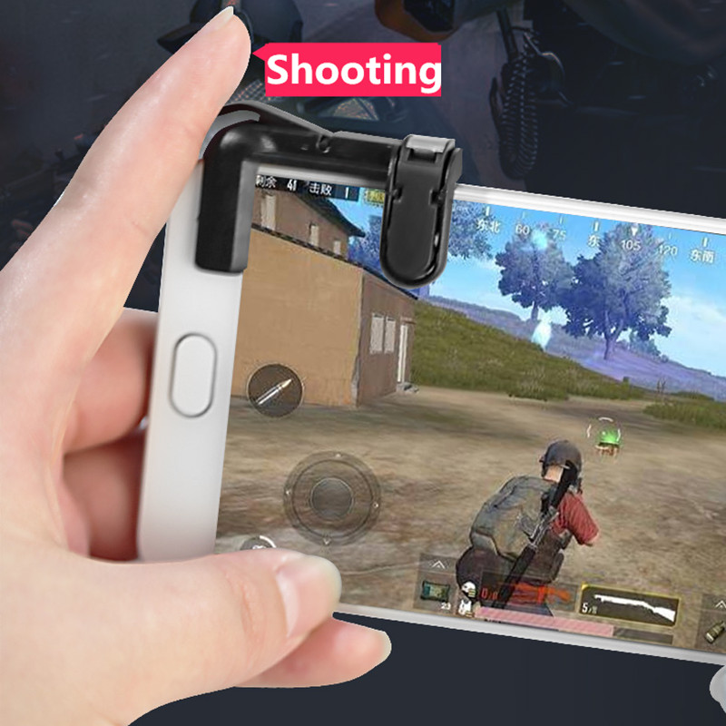 Mobile Phone Gaming Trigger L1r1 Shooter Controller For Pubg Knives Out Rules Of Survival Controller Shooter Fire Button Beautiful And Charming Mobile Phone Keypads