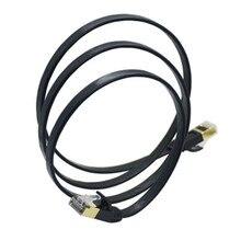 Семь типов сетевой кабель компьютерный маршрутизатор широкополосный витая пара 7 сетевой кабель cat7 Чисто Медный экранированный плоский кабель WS007