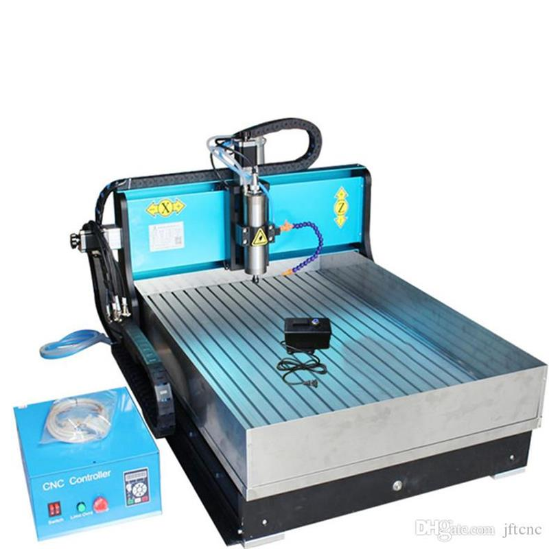JFT New Type 4 Axis CNC Router Engraver Machine with Water Tank 1500W Spindle Motor With Parallel Port for Woodworking 6040  jft new arrival high speed 4 axis 800w affordable cnc router with usb port precision drilling machine for woodworking 6090