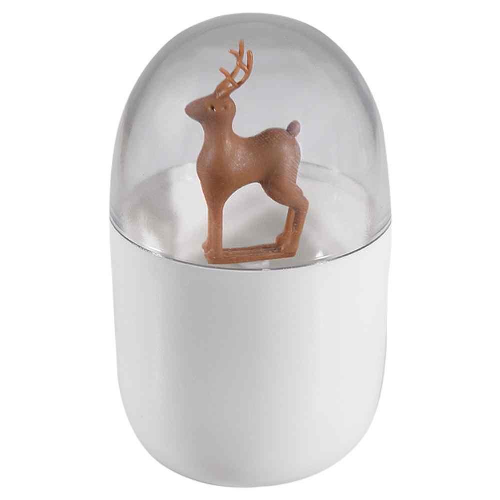 Caixa de palito de dente estilo nórdico criativo casa sala estar algodão cotonete caixa portátil mini bonito palito armazenamento organizador titular
