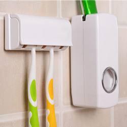 Высокое качество наборы для ванной автоматический зубная паста диспенсер семейная зубная щетка держатель набор