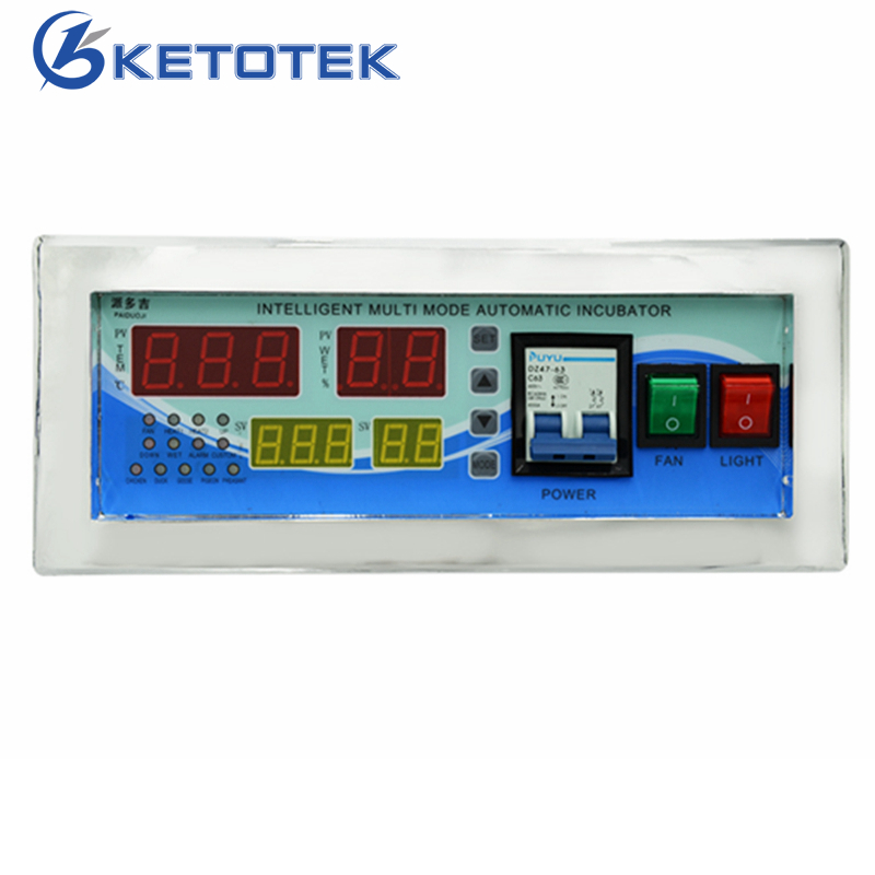 Full Automatic Egg Incubator Temperature Humidity Controller Thermostat Microcomputer Control With Temperature & Humidity Sensor radio frequency control wireless boiler thermostat temperature controller