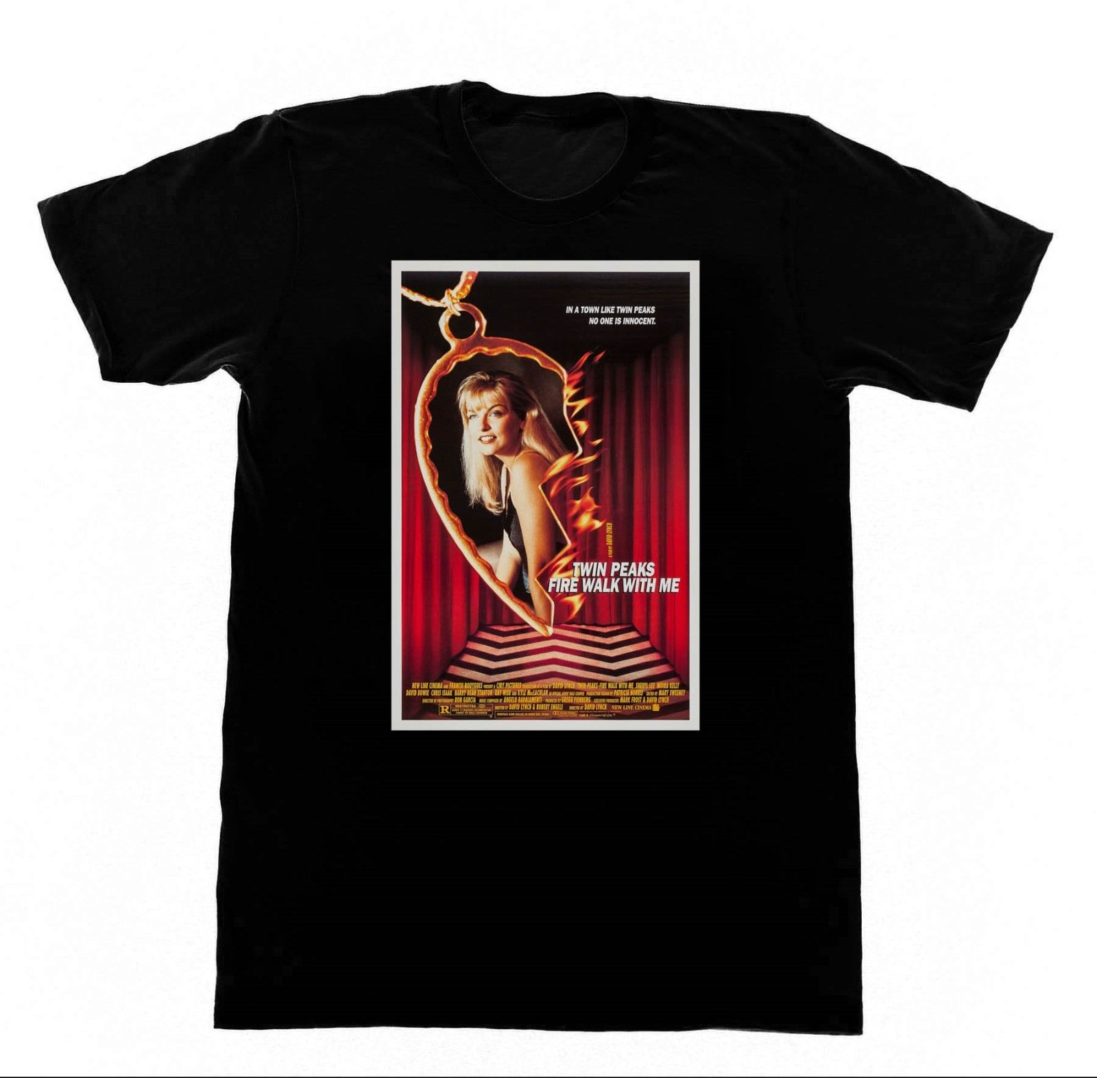 Twin Peaks Fire Walk with Me T-shirt David Lynch Eraserhead Fashion Men and Woman T Shirt Free Shipping