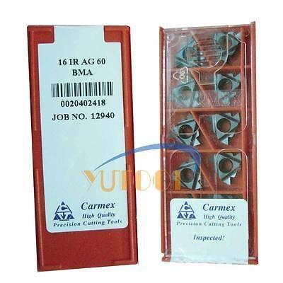 10 pcs Carmex filettatura Interna inserti In Metallo Duro 16IR 0.8 millimetri AG60 BMA CNC Fresatura tornio inserti10 pcs Carmex filettatura Interna inserti In Metallo Duro 16IR 0.8 millimetri AG60 BMA CNC Fresatura tornio inserti