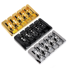 5 String Bridge Gold/Black/Chrome Plate For Bass Guitar Replacement