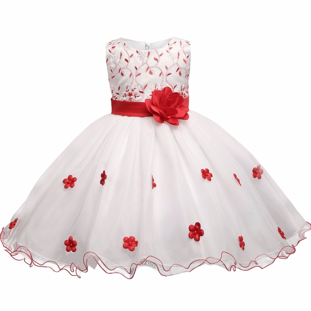 New Fashion Flower Party Girl Dress 6 7 8 Birthday wedding princess costume toddler baby Girls Clothes Children Kids Dresses