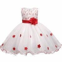 New Fashion Flower Party Girl Dress 6 7 8 Birthday Wedding Princess Costume Toddler Baby Girls
