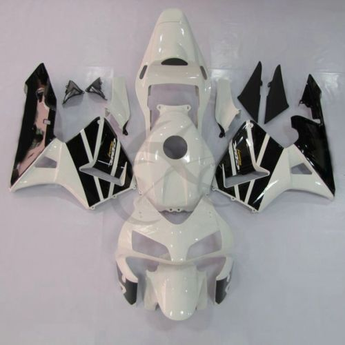 Black White INJECTION Plastic Fairing For Honda CBR600RR CBR 600 RR F5 03 04 11A