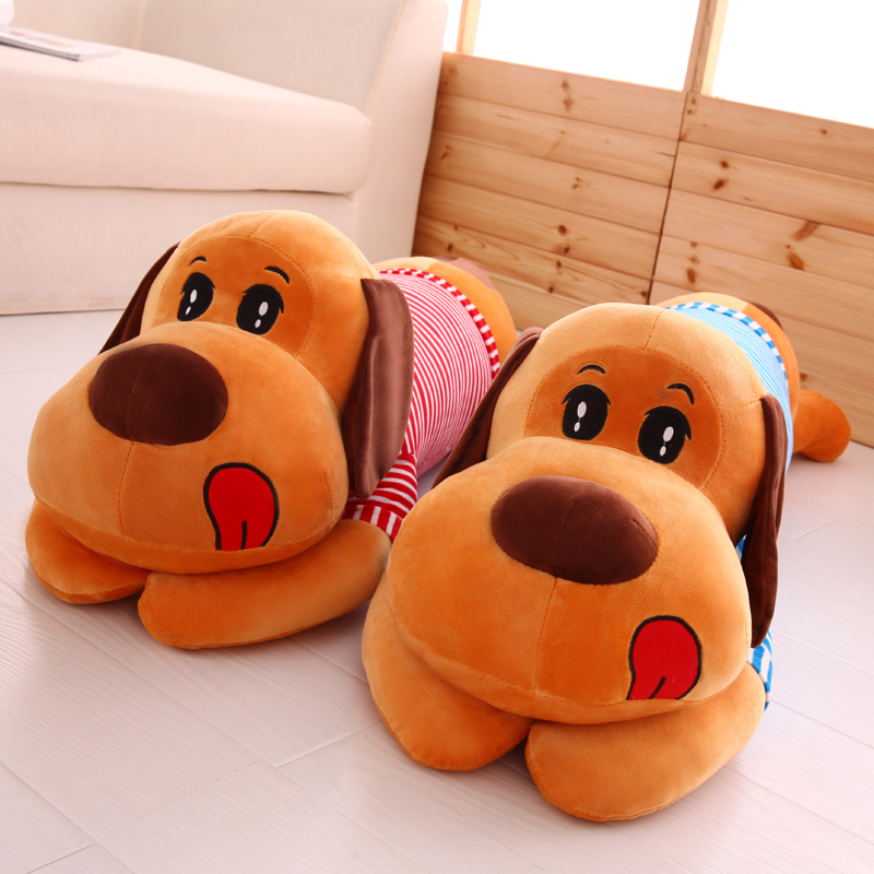 Pap Lying Dog Toy For Kids Stuffed Plush Animals Cute Soft Toys Birthday Gift Baby Doll Toy Xmas Gift Office Nap Doll A-147