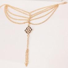 2017 Hot sales Beach Fashion Multi Tassel Hollow Flower Chain Anklet Toe Bracelet Chain Link Foot Jewelry Anklet Free Shipp