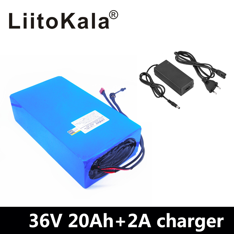 NEW LiitoKala 36V Lithium battery 36V 20AH electric bike battery 36V 1000W Scooter Battery with 30A BMS and 42V 2A charger