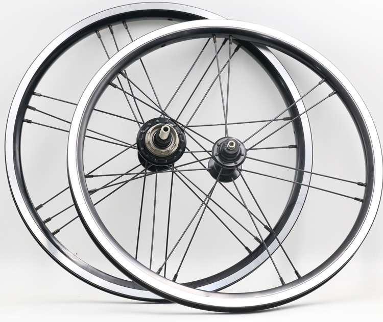 one pair 16 x1 3 8 349 black 2 3speed Wheelset light weight 14 21hole 820g
