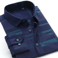 New comming autumn long sleeve Mens Bamboo Fiber shirts formal dress shirts very big large plus size XXL 5XL 6XL7XL8XL 9XL 10XL