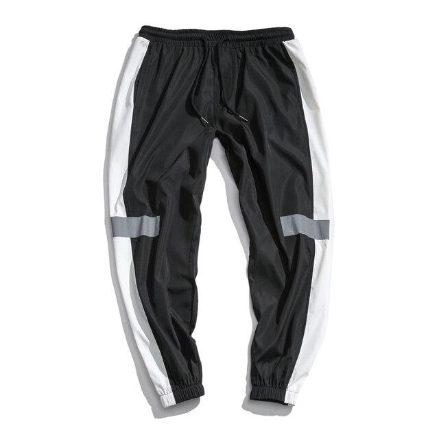 Privathinker Side Stripe Track Jogger Pants Men 2020 Reflective Label Track Harem Pants Homme Streetwear Male HipHop 55