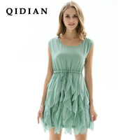 QI DIAN 2017 Spring And Summer Dress New Women S Th N Fashion Sleeveless Chiffon Dress