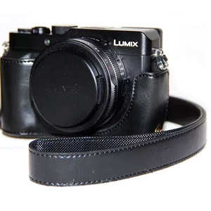 Image 5 - Torba ze skóry PU dla Panasonic lx100 LUMIX LX100 DMC LX100 aparat ze skórzanym paskiem na ramię skórzana torba wideo akcesoria