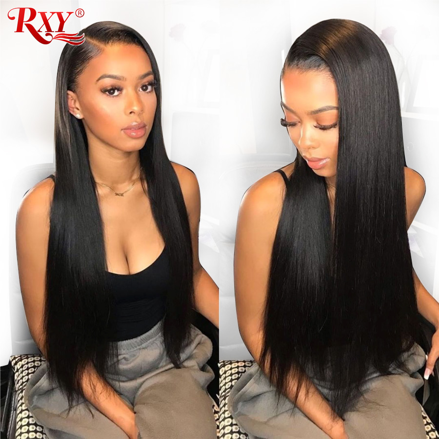Glueless Lace Front Human Hair Wigs For Black Women Brazilian Straight Lace Wigs RXY Pre Plucked