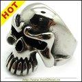 Размер 7-13 Прохладный Мужская Серебряные Ювелирные Изделия, 316L Нержавеющей Стали Высокого Качества Рок ПАНК Байкер мальчика Skull Ring