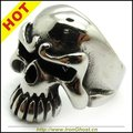 Size 7-13 Cool Mens Silver Jewelry, 316L Stainless Steel High Quality Rock PUNK Biker Boy's Skull Ring