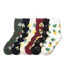 Jeseca 2019 Autumn Winter Women Fashion Warm Socks Fruit Print Cartoon Cute Christmas Sock Gifts Cotton Soft School Student Sox