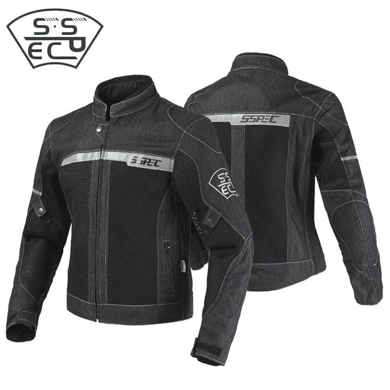 SSPEC été maille Moto jeans veste hommes Motocross équitation veste Moto Armor Sport course veste vêtements de protection