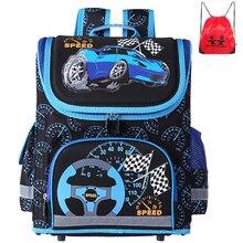 Новый Человек-паук Школа сумка ортопедические Автомобили Дети Школьные сумки рюкзак школьный рюкзак Mochila Infantil для мальчиков