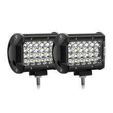 цена на Safego 4 Inch 72W LED Light Bar 12V 24V Spot Beam Offroad LED Work Light Bar For Motorcycle Truck 4WD 4x4 SUV ATV Off-Road 6000K