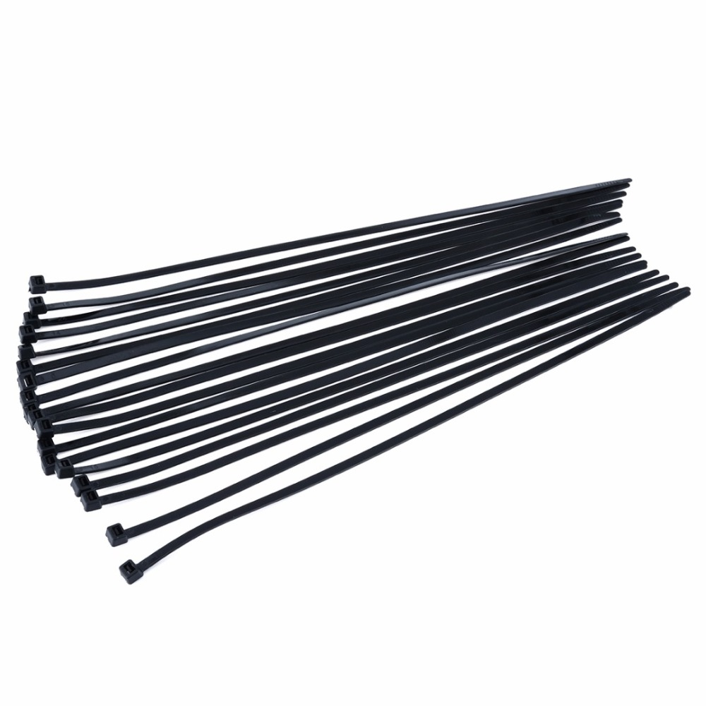 1000pcs Black Self-Locking Nylon Cable Ties Zip Tie Fasteners for Wires and Hoses Length 300mm Width 4.8mm Holding Force 23 KG fashion black and white wide twill pattern 6cm width tie for men