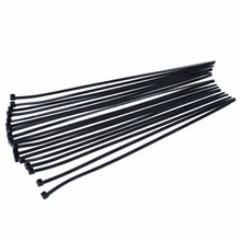 1000pcs Black Self-Locking Nylon Cable Ties Zip Tie Fasteners for Wires and Hoses Length 300mm Width 4.8mm Holding Force 23 KG