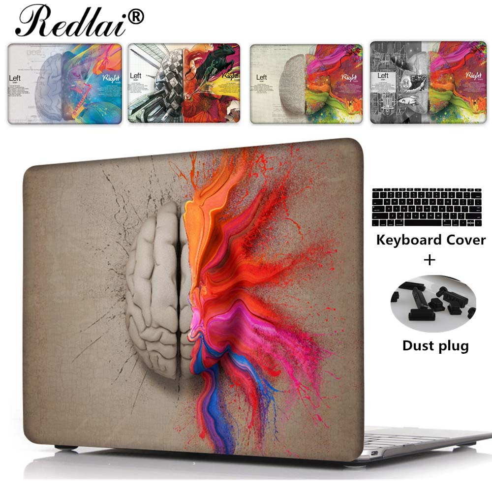 For Macbook 12 inch Air 13 Pro Retina 13 15 Case Unique Left and Right Brain