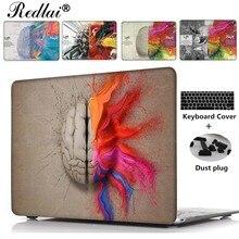 Für Macbook 12 zoll Air 13 Pro Retina 13 15 Fall Einzigartige Links und Rechte Gehirn Kunststoff Hard Case Für Mac book Pro 13 15 Touch bar