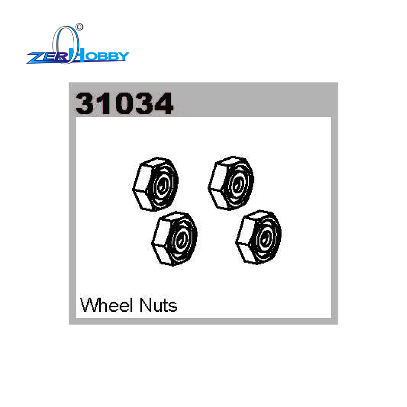 Supercar hobby rc car spare parts accessories part no. 31034 wheel nuts for 1/10 scale electric power rc car Himoto truggy buggy